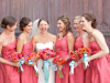 bright-coral-bridal-party
