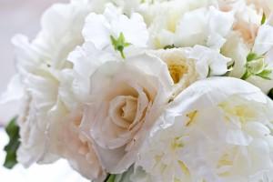 Fluffy white bouquet