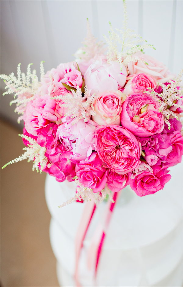 peony and garden rose bouquet