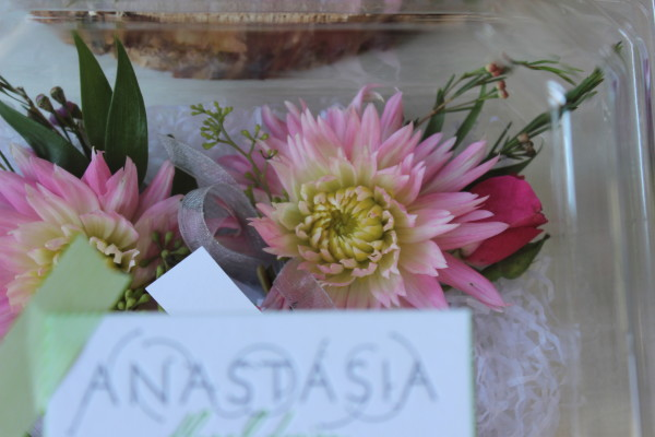 pink dahlia corsages