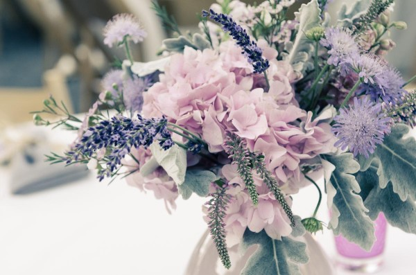blush and lavender centerpiece by Anastasia Ehlers | photo by Amy Rollo