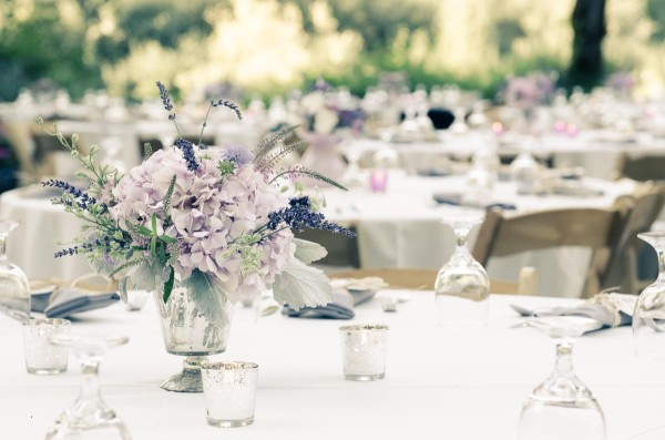 lavender centerpiece by Anastasia Ehlers | photo by Amy Rollo
