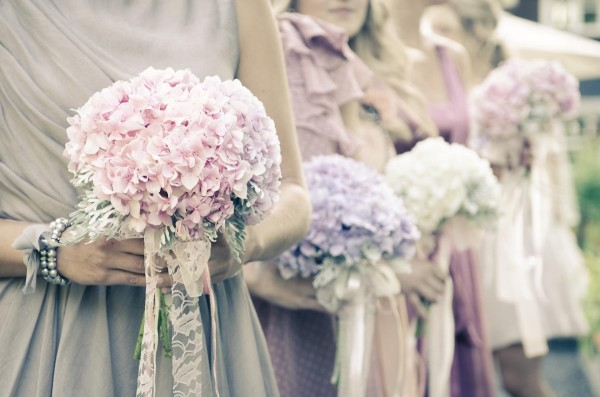 hydrangea bridesmaid bouquets by Anastasia Ehlers | photo by Amy Rollo