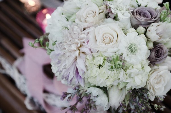 blush, lavender, and white bridal bouquet by Anastasia Ehlers | photo by Amy Rollo