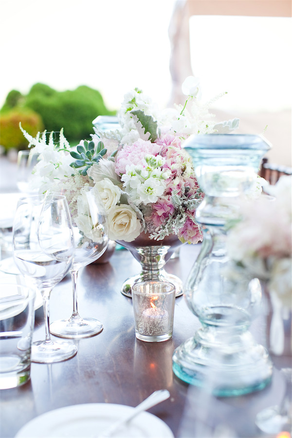 blush and silver table setting by Anastasia Ehlers | photo by Erika Nicole