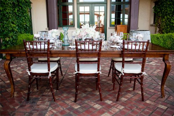 winery wedding table by Anastasia Ehlers | photo by Erika Nicole