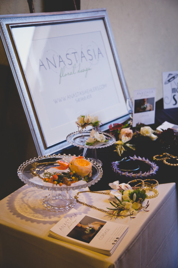 display of corsages and floral necklaces by Anastasia Ehlers | photo by Cat Dossett