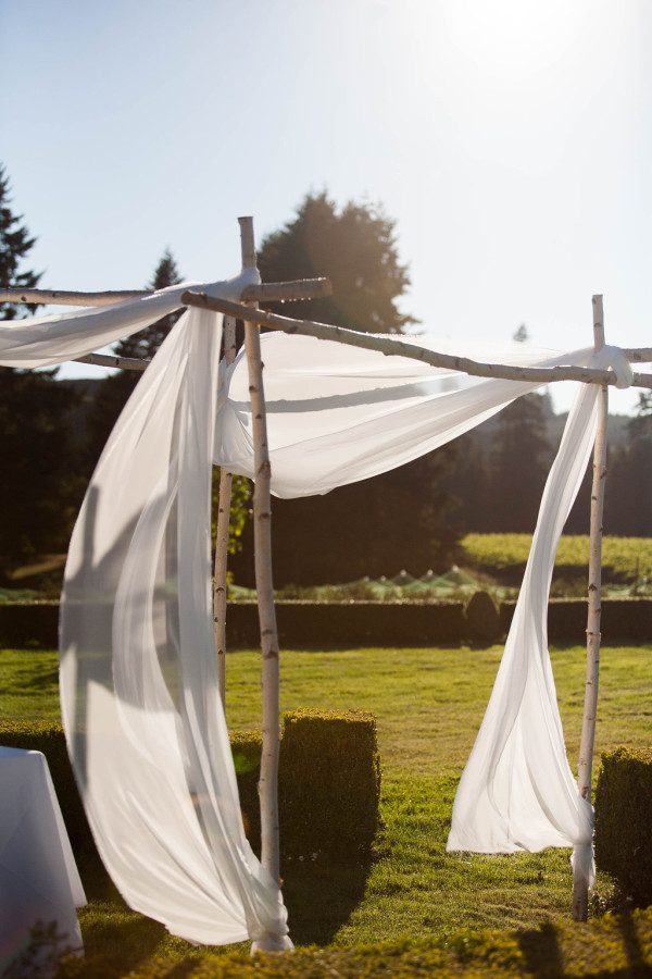 birch chuppah for rent from anastasia floral