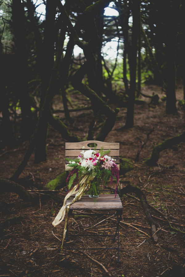 bridal bouquet with Japanese ranunculus and ferns by Anastasia Floral | photo by Cat Dossett
